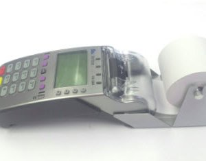 VX520 CTLS with large thermal roll